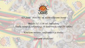 2014/015 m. sezono uždarymo šventė