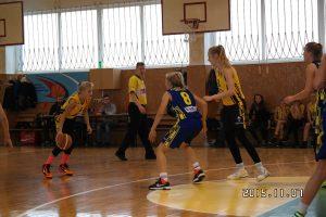 Varžybų akimirkos U14 (2002-2003 m. g.) mergaičių 1 diviziono rungtynės