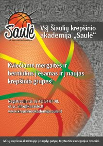 Pasirink žaisti krepšinį!